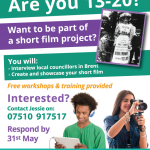 Open Call: 13-20 interested in working on a short film project!