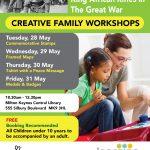 Creative May Half Term Art Workshops: BWIR & KAR In The Great War
