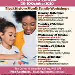 Black History Month Family Workshops 26-30 October 2020