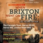 Opening Event: When Brixton Went On Fire, 40 Years On, Carnegie Library